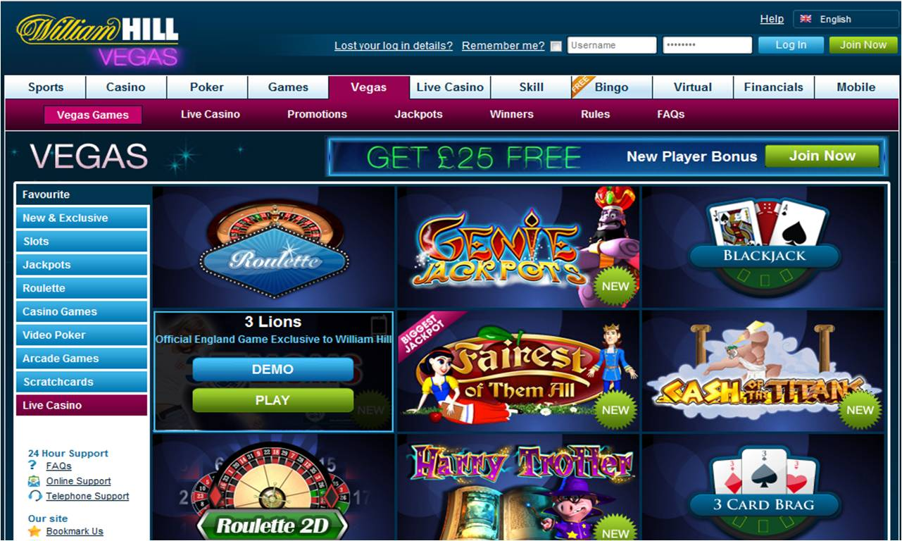 william hill vegas casino