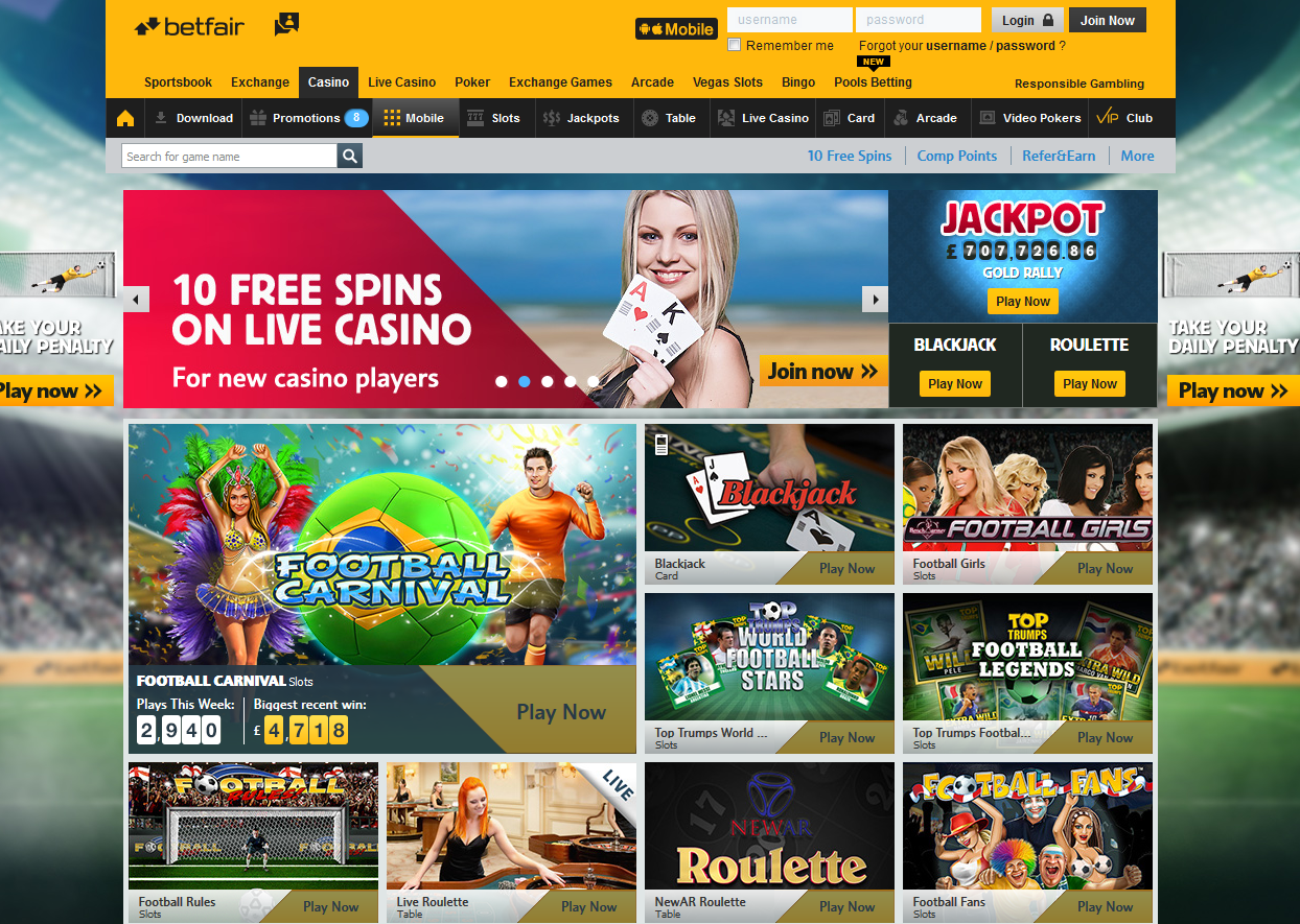 betfair online casino review